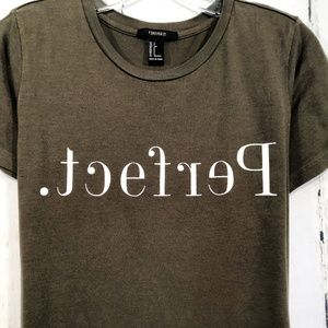"Forever 21 Sz S Olive Green "" Perfect "" Soft Tee"